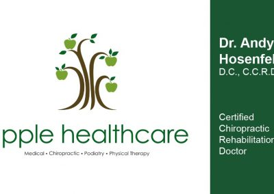 Apple Healthcare Business Card