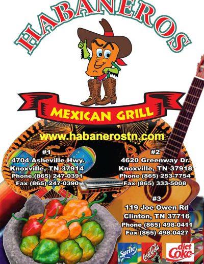 Habaneros Mexican Grill Restaurant Menu
