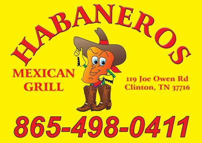 Habaneros Yard Sign