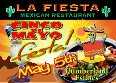 La Fiesta Mexican Yard Sign