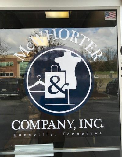 McWhorter Company Window Graphic