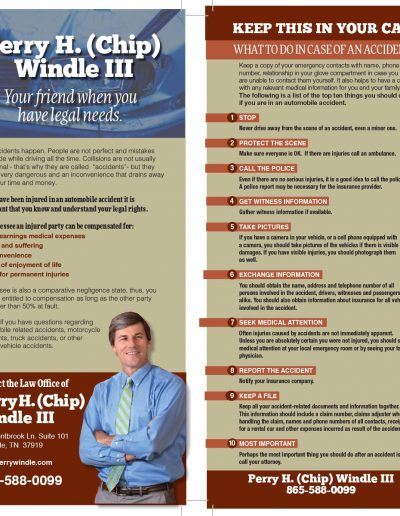 Perry H Windle Legal Advice Card