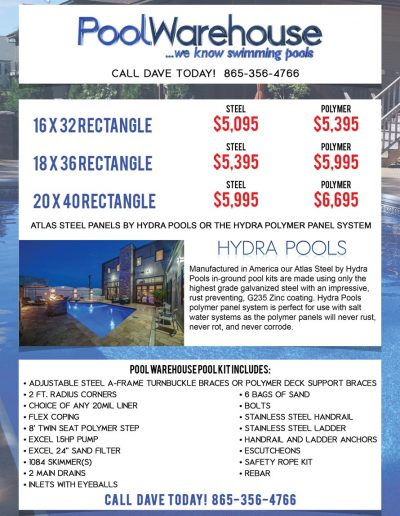 Pool Warehouse Flyer