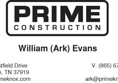 Prime Construction Business Card