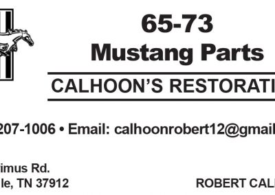 Robert Calhoon Restoration Business Card