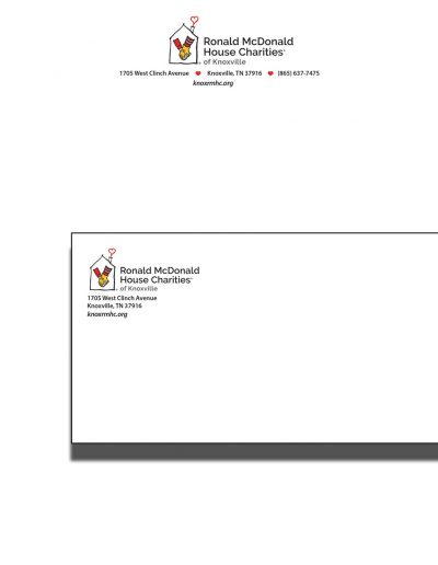 Ronald McDonald House Charities Envelope and Letterhead