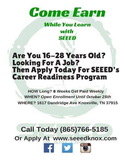 Seeed Knox October Career Readiness Program