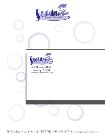 Sugarbakers Envelope and Letterhead