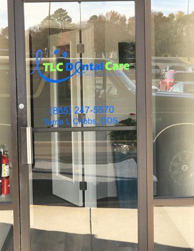 TLC Dental Care Window Graphic
