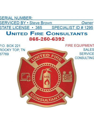 United Fire Consultant Sticker